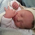 Greta geboren im Geburtshaus Marburg