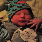 Baby Lorenz geboren im Geburtshaus Marburg