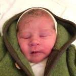 Baby rosalin geboren im Geburtshaus Marburg
